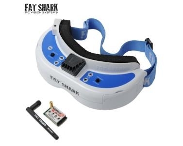 FatShark Dominator V3 FPV Goggles with 5.8GHz Receiver Module, Race Bands Set